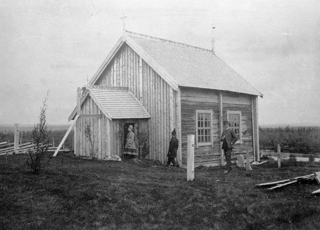 Lappkapellet i Handöl omkring år 1900.