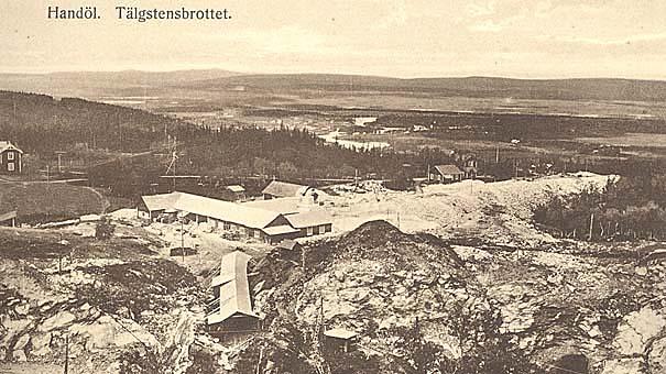 Handöls täljstensfabrik på 1920-talet