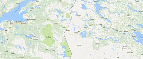 Karta över Handöl